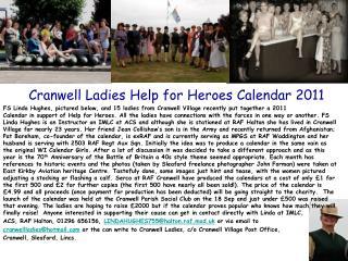 Cranwell Ladies Help for Heroes Calendar 2011