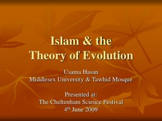 Islam  the  Theory of Evolution
