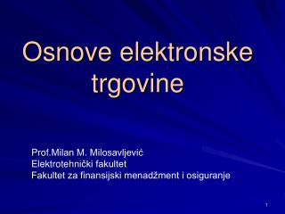 Osnove elektronske trgovine