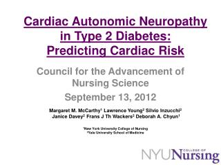 Council for the Advancement of Nursing Science September 13, 2012