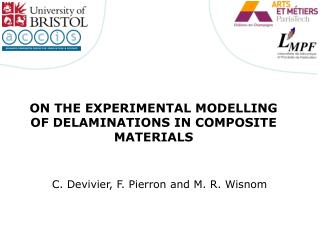 On the experimental modelling of delaminations in composite materials