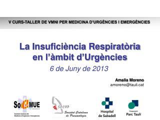 La Insuficiència Respiratòria en l'àmbit d'Urgències