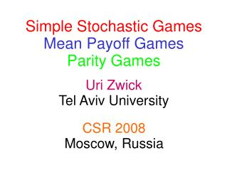 Uri Zwick Tel Aviv University