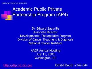 Academic Public Private  Partnership Program AP4