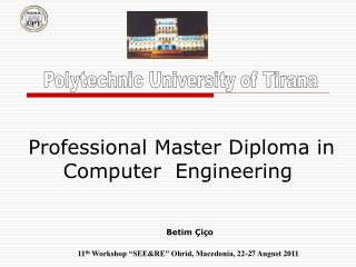 Professional Master Diploma in Computer  Engineering