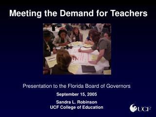 Meeting the Demand for Teachers