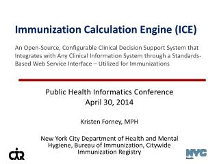 Public Health Informatics Conference April 30, 2014 Kristen Forney, MPH