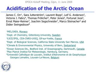 Acidification of the Arctic Ocean