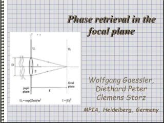 Phase retrieval in the focal plane