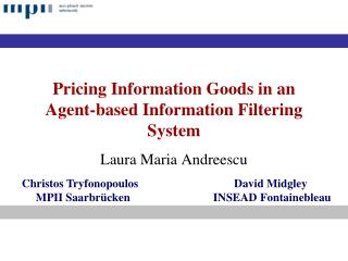 Pricing Information Goods in an Agent-based Information Filtering System