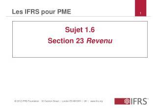 Les IFRS pour PME
