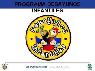 PROGRAMA DESAYUNOS INFANTILES