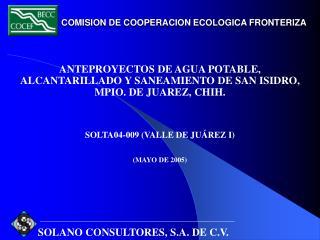 COMISION DE COOPERACION ECOLOGICA FRONTERIZA