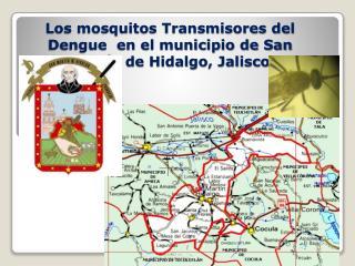 Los mosquitos Transmisores del Dengue  en el municipio de San Martín de Hidalgo, Jalisco