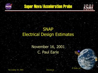 SNAP Electrical Design Estimates