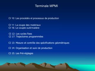 Terminale MPMI