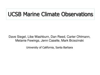 UCSB Marine Climate Observations