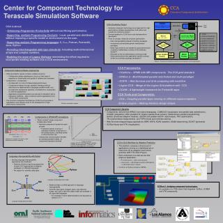 Center for Component Technology for Terascale Simulation Software