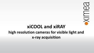 xiCOOL and xiRAY high resolution cameras for visible light and x-ray acquisition