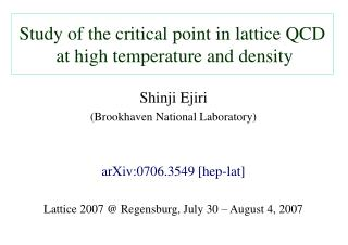 Study of the critical point in lattice QCD  at high temperature and density