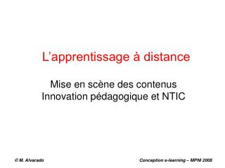 L'apprentissage à distance