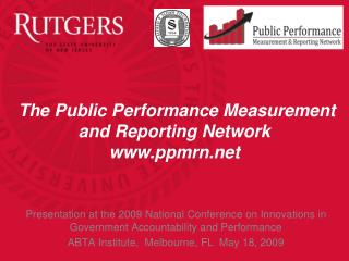 The Public Performance Measurement and Reporting Network ppmrn