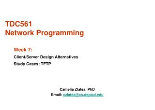 TDC561  Network Programming