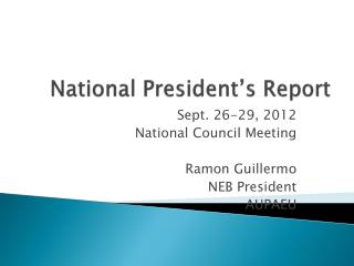 National President's Report
