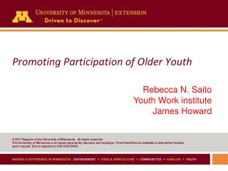 Promoting Participation of Older Youth