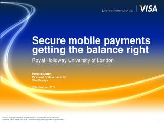 Secure mobile payments getting the balance right