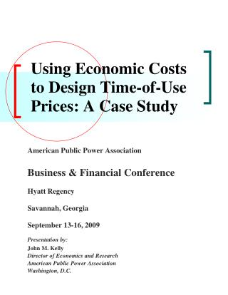 Using Economic Costs to Design Time-of-Use Prices: A Case Study