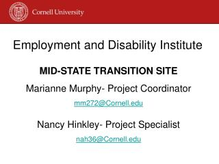 Employment and Disability Institute