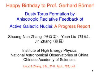Shuang-Nan Zhang  ( 张双南 ),  Yuan Liu  ( 刘元 ),  Jin Zhang  ( 张晋 ) Institute of High Energy Physics