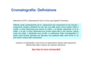 Cromatografia planare Thin Layer Chromatography (TLC) Cromatografia su carta