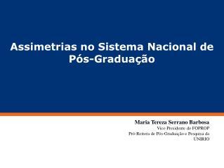 Assimetrias no Sistema Nacional de Pós-Graduação