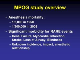 MPOG study overview
