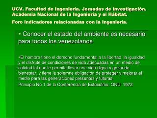 Conocer el estado del ambiente es necesario para todos los venezolanos