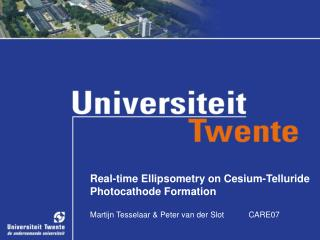 Real-time Ellipsometry on Cesium-Telluride Photocathode Formation