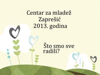 Centar za mladež  Zaprešić      2013. godina