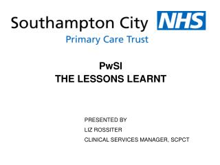 PwSI THE LESSONS LEARNT