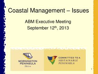 Coastal Management – Issues
