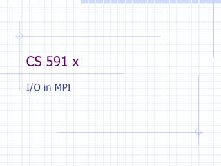 CS 591 x