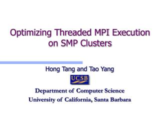 Optimizing Threaded MPI Execution on SMP Clusters