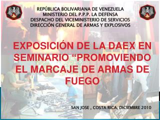 REPÚBLICA BOLIVARIANA DE VENEZUELA MINISTERIO DEL P.P.P. LA DEFENSA