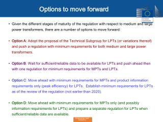 Options to move forward