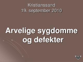 Kristianssand 19. september 2010