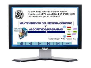 """U.E.P Colegio Nuestra Señora del Rosario""""  Inscrito en el MPPE bajo el Cód. DEA  PD03090104"""