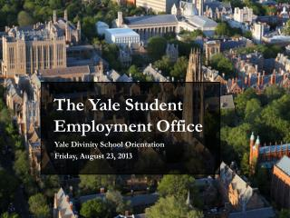 The Yale Student Employment Office