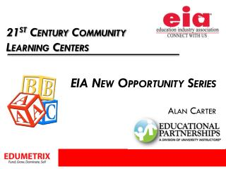 EIA New Opportunity Series Alan Carter