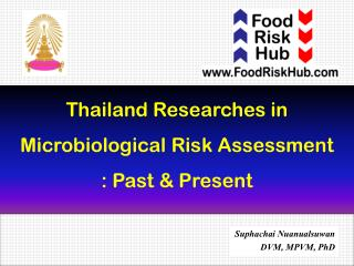 Thailand Researches in  Microbiological Risk Assessment  : Past & Present